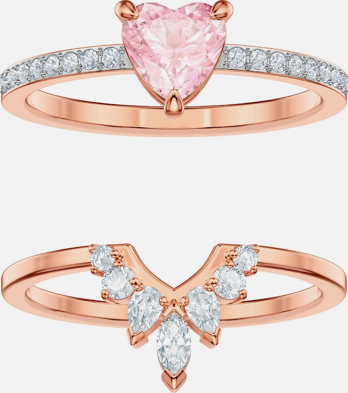 Swarovski Ring 'One 5474938' in rosegold / rosa / transparent, Produktansicht