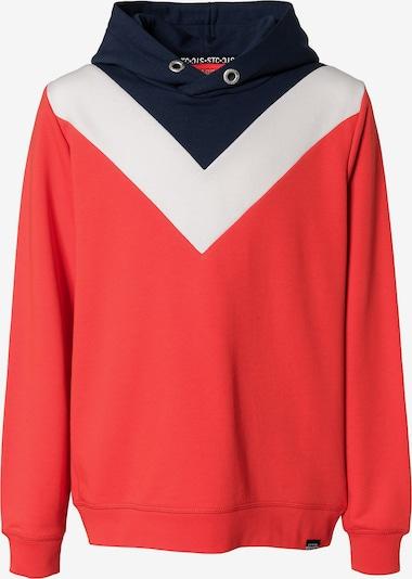 STACCATO Sweatshirt in kobaltblau / rot / weiß, Produktansicht