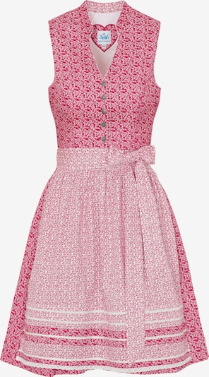 SPIETH & WENSKY Dirndl 'Narissa' in pink / weiß, Produktansicht
