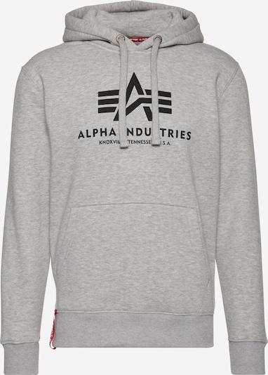 ALPHA INDUSTRIES Sweater majica 'Basic' u siva melange / crna, Pregled proizvoda