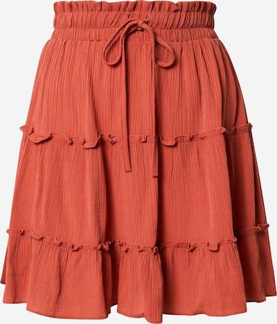 Trendyol Sukňa - hrdzavo červená: Pohľad spredu