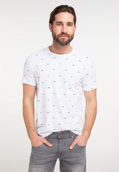 Petrol Industries T-Shirt in schwarz / weiß: Frontalansicht