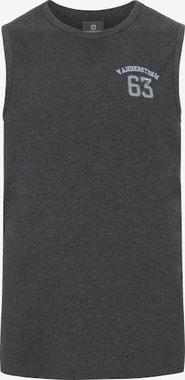 Jan Vanderstorm T-Shirt 'Poro' en bleu / gris: Vue de face