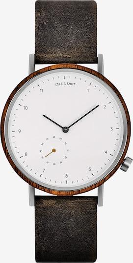 TAKE A SHOT Analogové hodinky 'George' - hnědá / bílá, Produkt