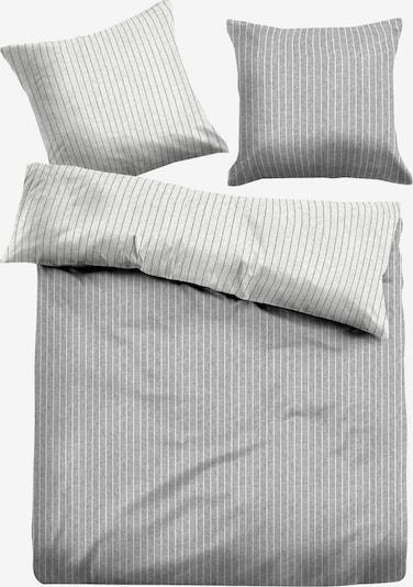 TOM TAILOR Bettwäsche in hellgrau / graumeliert: Frontalansicht