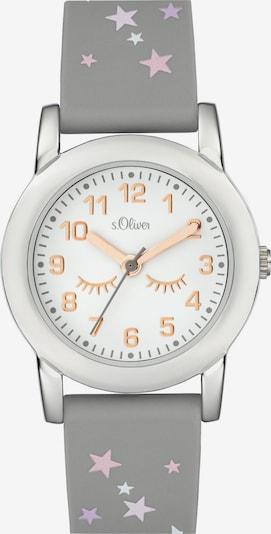 s.Oliver Uhr in grau / silber / weiß, Produktansicht