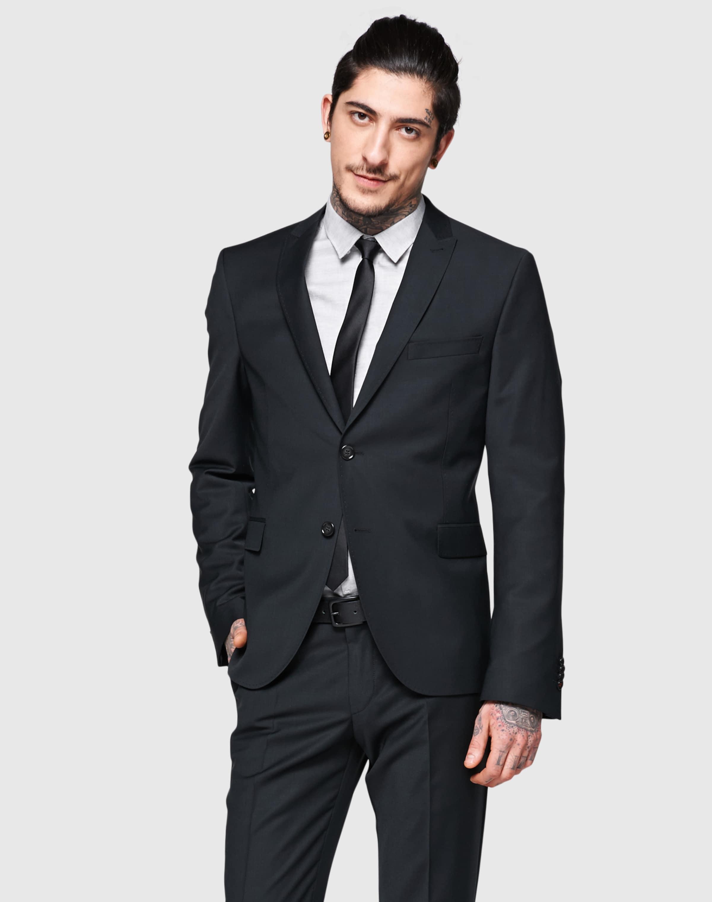 Costume En De 'cipanetti' Cinque Noir Veste Rj54LA