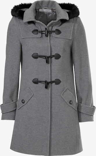 heine Vinterkappa i gråmelerad / svart, Produktvy