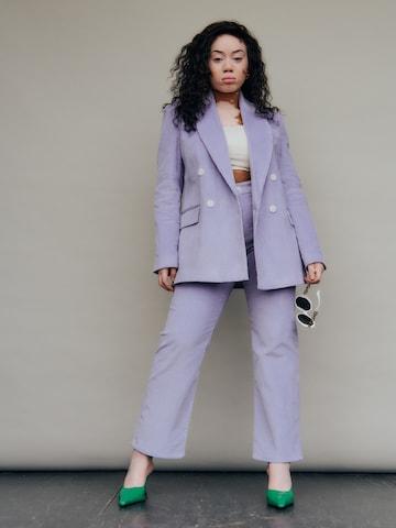 Lilac Suit Look