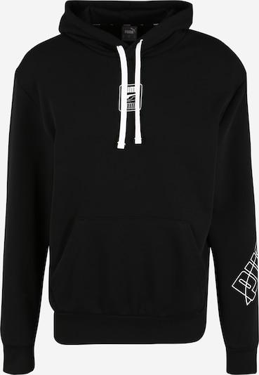 PUMA Sweatshirt 'Rebel' in schwarz / weiß, Produktansicht