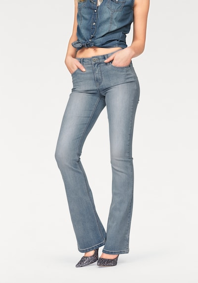 ARIZONA High-waist-Jeans 'Bootcut' in blue denim, Modelansicht