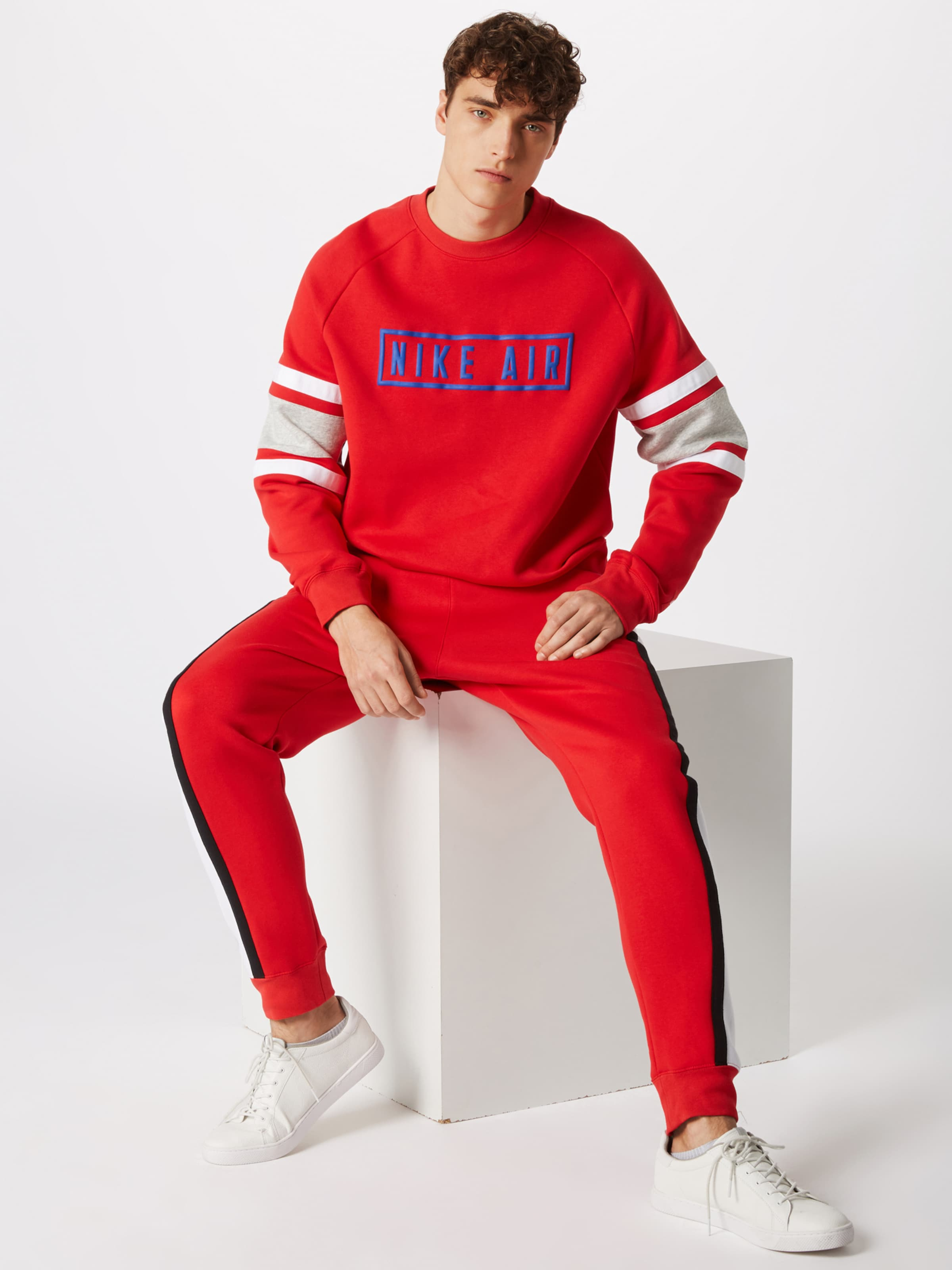 Sportswear Crew Sweat Air Nsw Flc' shirt En RougeBlanc 'm Nike Ok8n0PXw