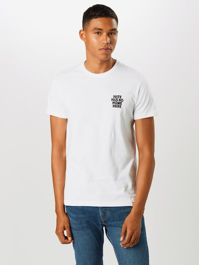Iriedaily Koszulka 'No Hate' w kolorze czarny / białym: Widok z przodu