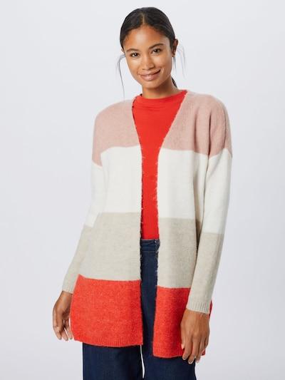 Kardiganas 'ALTINA' iš ONLY , spalva - marga smėlio spalva / rožių spalva / pastelinė raudona / vilnos balta: Vaizdas iš priekio