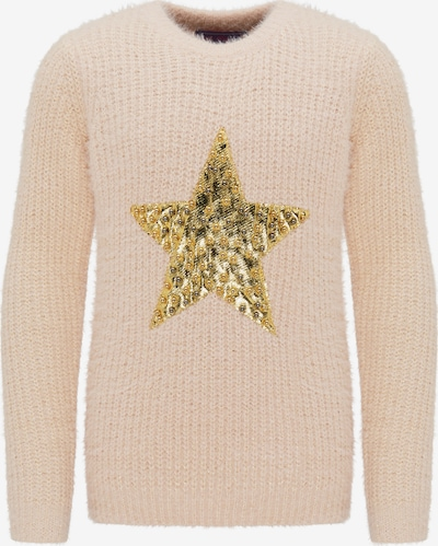 MYMO Pullover in gold / rosa, Produktansicht
