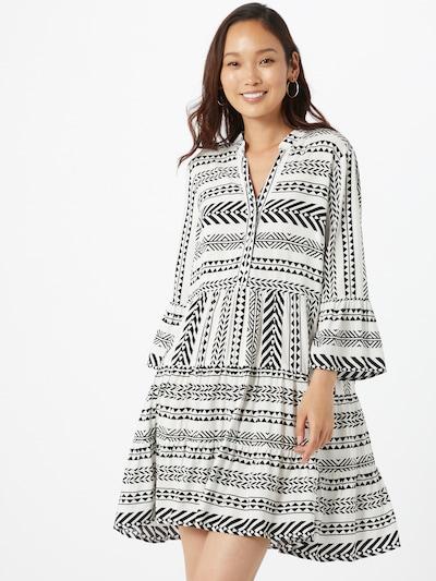 MORE & MORE Robe-chemise en noir / blanc: Vue de face