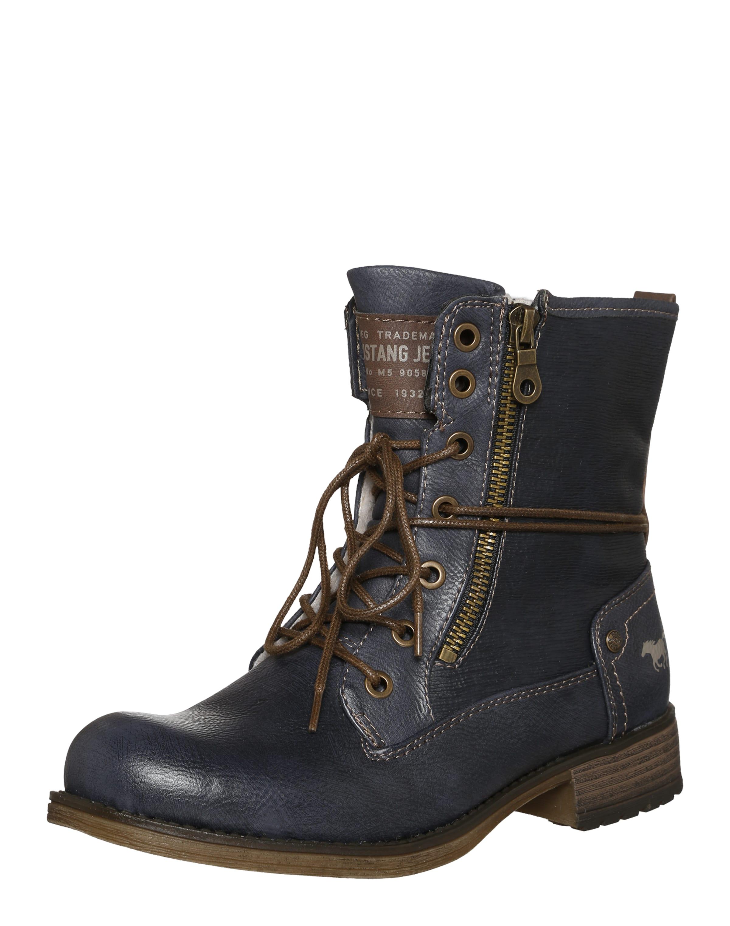 MUSTANG Schnürstiefelette mit Zipper Günstige und langlebige Schuhe