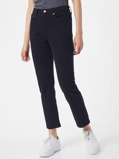 LEVI'S Jeans '501® CROP' in schwarz, Modelansicht