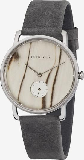 Kerbholz Uhr 'Frida' in dunkelgrau, Produktansicht