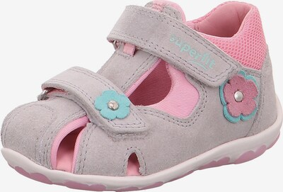 SUPERFIT Sandalen 'Fanni' in grau / pink, Produktansicht
