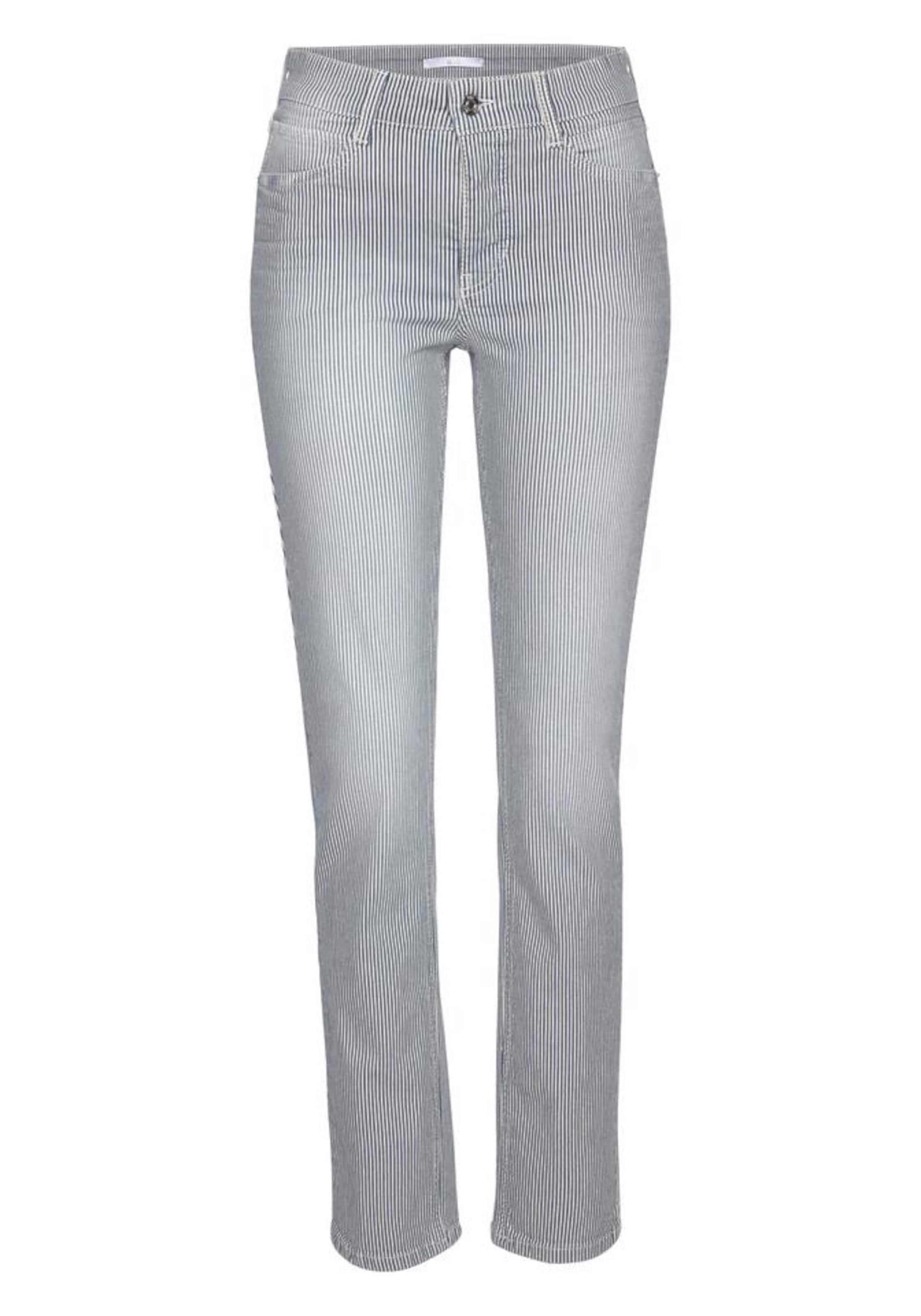 SchwarzNaturweiß Mac Jeans 'angela Stripe' In mN8vn0wO