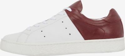 Bianco Sneaker in burgunder / weiß: Frontalansicht