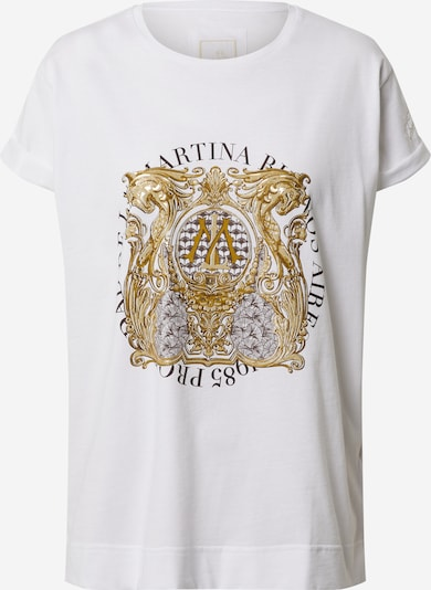 Tricou 'QUINTA' La Martina pe alb, Vizualizare produs