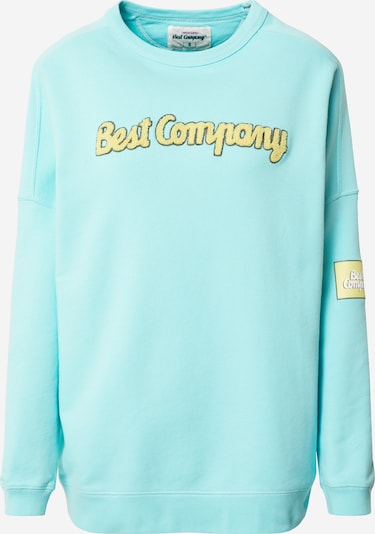 Best Company Sweatshirt in gelb / mint, Produktansicht