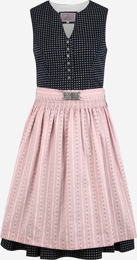 MARJO Dirndl 'Betti' w kolorze niebieska noc / różowy pudrowy / białym, Podgląd produktu