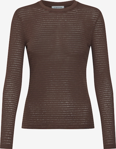 EDITED T-shirt 'Jenna' en marron: Vue de face