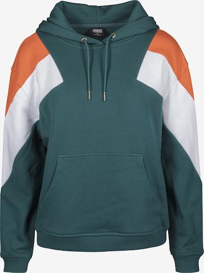 Urban Classics Curvy Sweatshirt in dunkelgrün / orange / weiß, Produktansicht