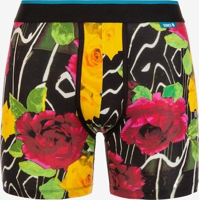 Stance Boxershorts 'Wholester Marble Flowers' in de kleur Geel / Groen / Donkerroze / Zwart / Wit, Productweergave