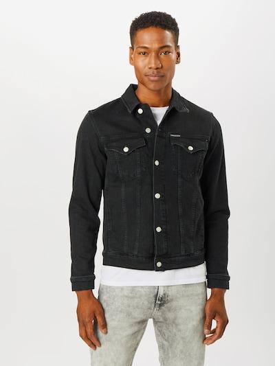 fekete farmer Calvin Klein Jeans Átmeneti dzseki 'FOUNDATION', Modell nézet