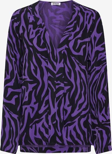 DRYKORN Chemisier 'LILYEN' en violet / noir, Vue avec produit