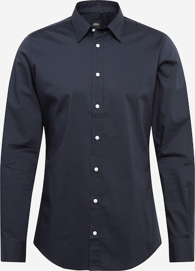 s.Oliver BLACK LABEL Hemd in dunkelblau, Produktansicht