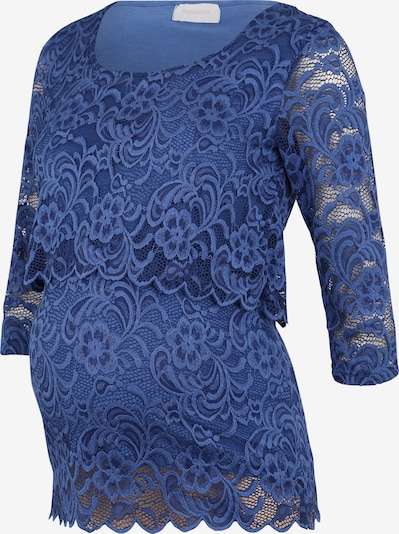 MAMALICIOUS Shirts 'MLMIVANE JUNE 3/4 LACE TOP COMBI A.' in blau, Produktansicht