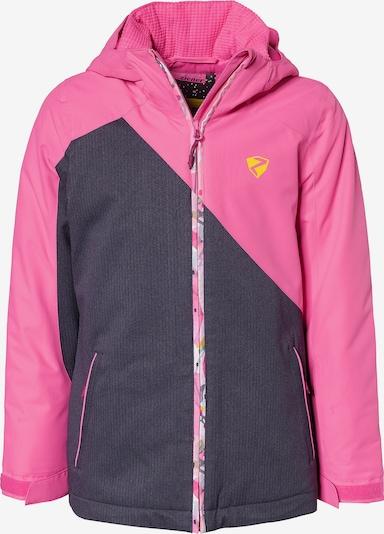 ZIENER Skijacke 'Abella' in dunkelgrau / pink, Produktansicht
