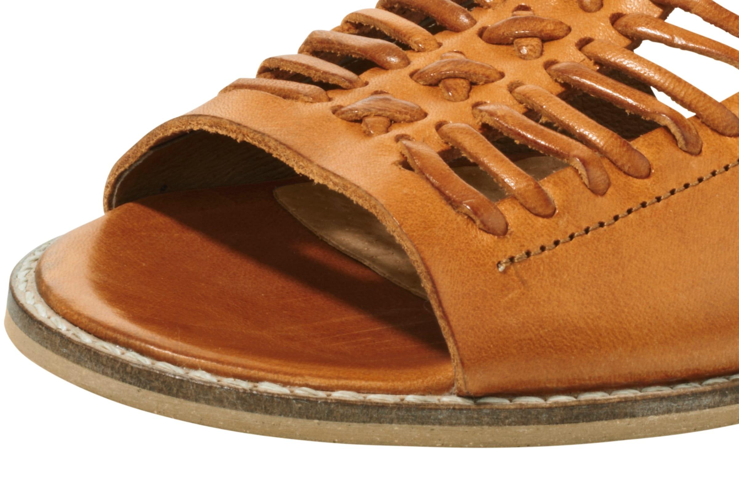 Heine Sandale Leder Bequem, Bequem, Bequem, gut aussehend f50291