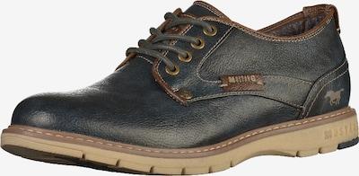 MUSTANG Športni čevlji z vezalkami | nočno modra / rjava barva, Prikaz izdelka