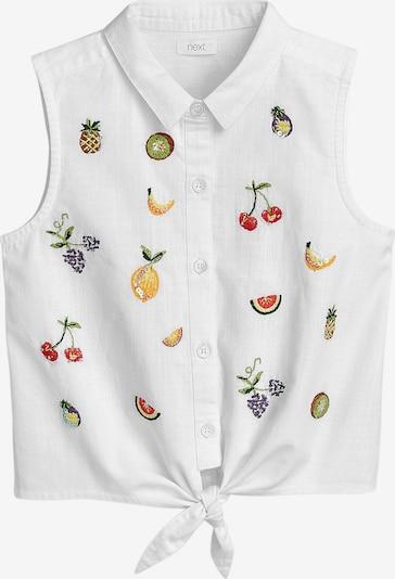 NEXT Bluse in mischfarben / weiß, Produktansicht