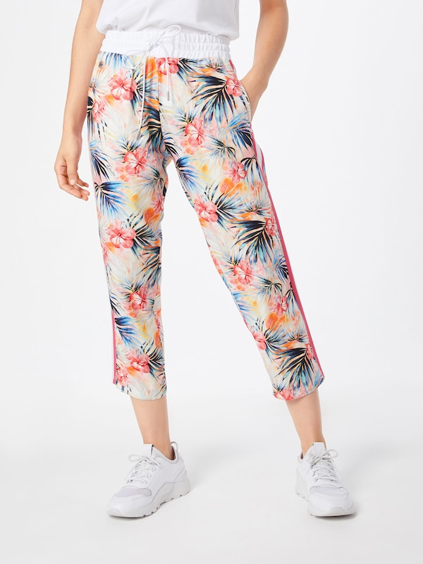 Viscose 'woman Pantalon En La Martina Printed Rose Trouser' POZiTXku
