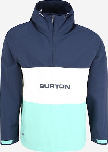 BURTON Jacke in türkis / dunkelblau / weiß, Produktansicht