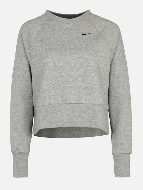 NIKE Sport Sweatshirt 'W NK DRY TOP CREW LS GRX VERSA' in grau