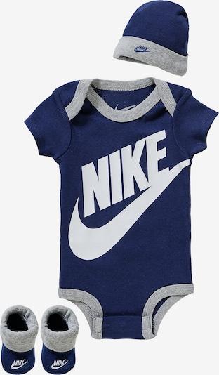 Nike Sportswear Set in dunkelblau / grau / weiß, Produktansicht