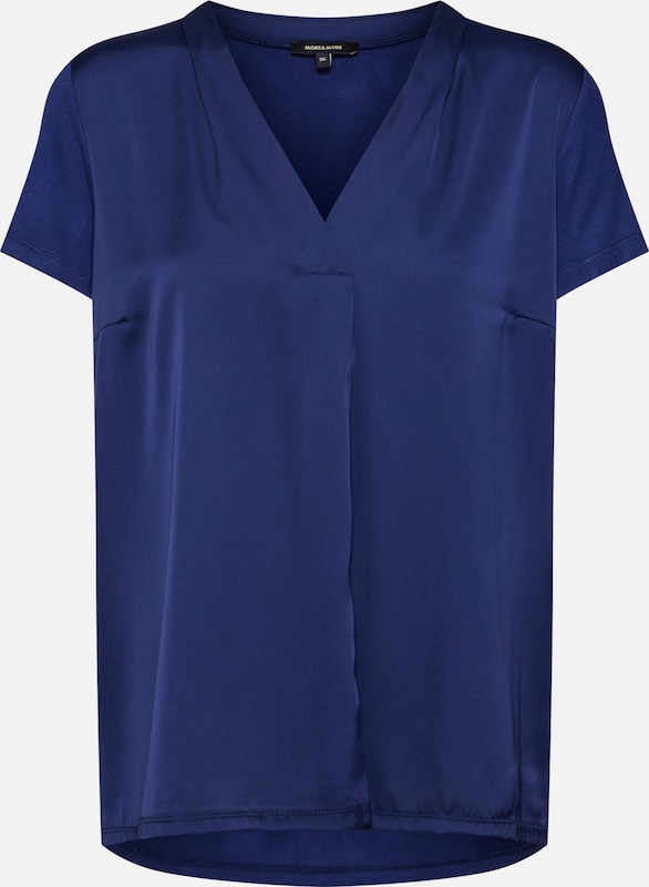 MORE & MORE Bluse in blau, Produktansicht
