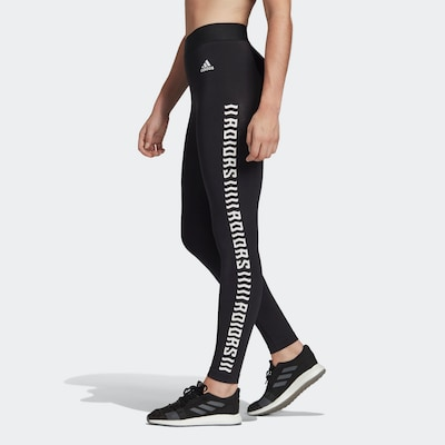 ADIDAS PERFORMANCE Sporthose in schwarz: Frontalansicht