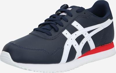 Sneaker low 'Tiger Runner' ASICS SportStyle pe albastru noapte / roșu / alb: Privire frontală