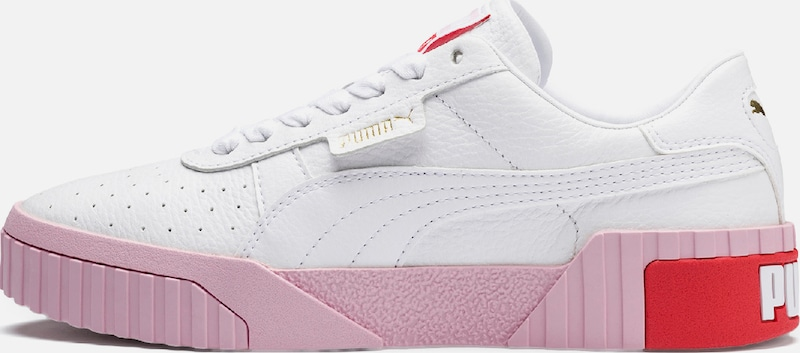 PUMA Sneakers laag 'Cali Wn's' in de kleur Rosa / Rood / Wit, Productweergave