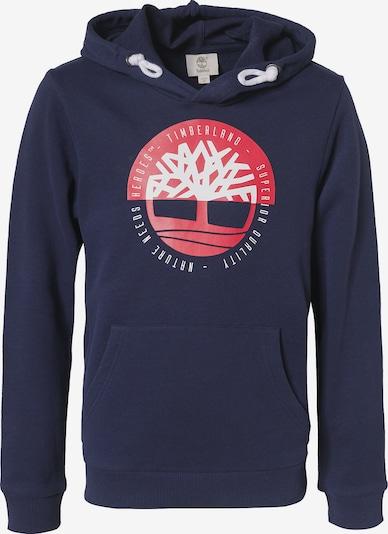 TIMBERLAND Sweatshirt in dunkelblau / melone / weiß, Produktansicht