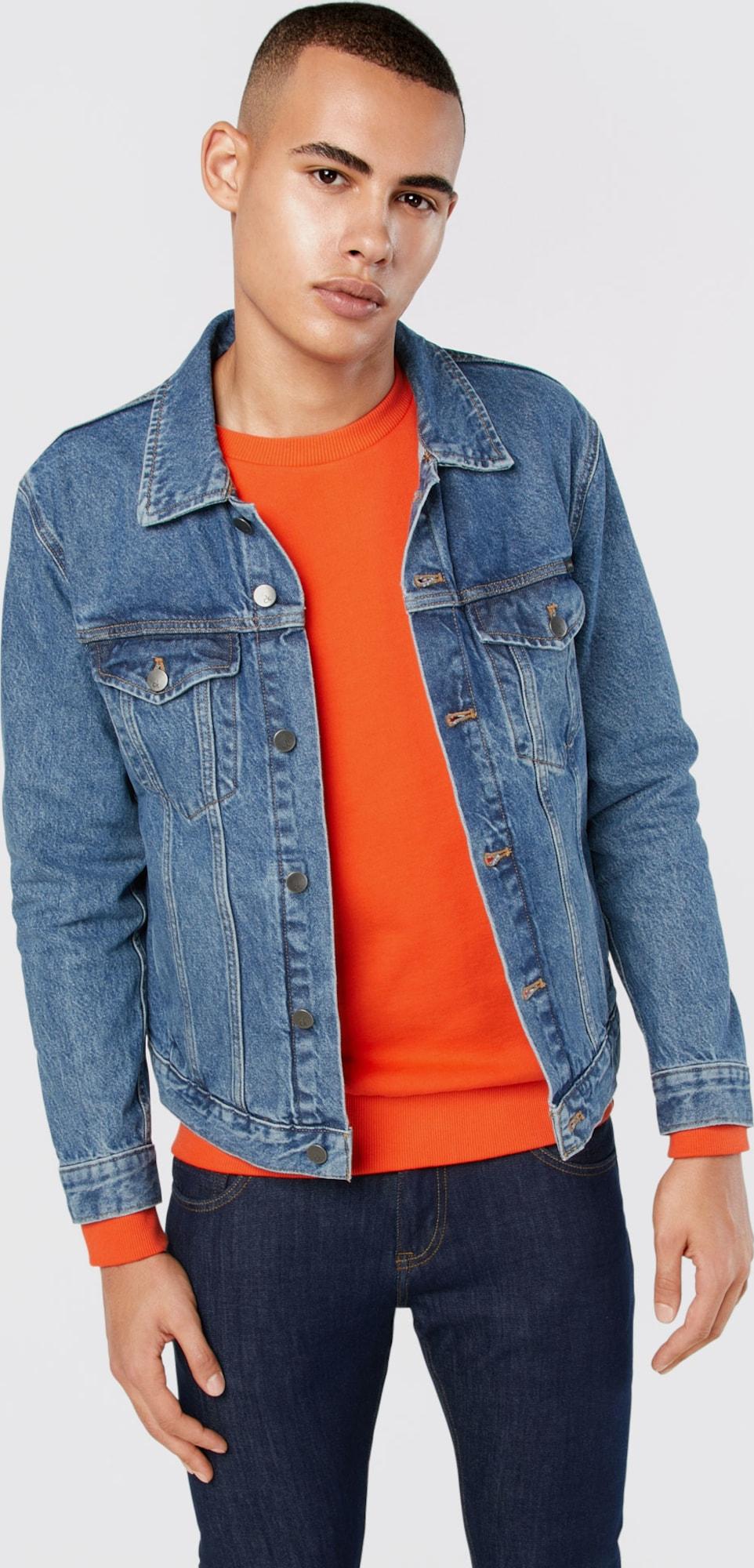 calvin klein jeans jeansjacke 39 classic jacket stark blue 39 in blau about you. Black Bedroom Furniture Sets. Home Design Ideas